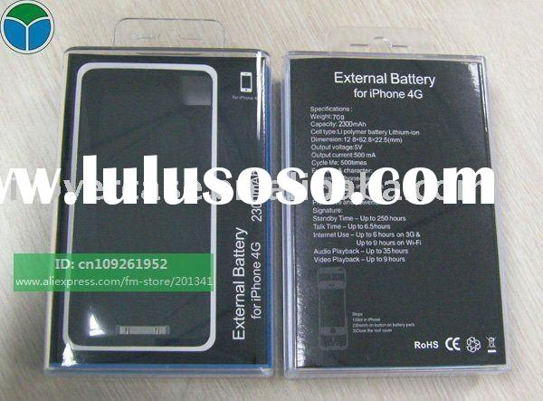 2300mAh external battery,Backup Battery case For iPhone 4