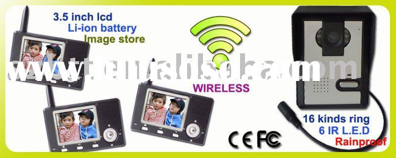 "2.4G WIRELESS 3.5"" COLOR VIDEO DOOR PHONE INTERCOM HOME"