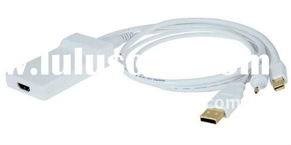 2.5m/8ft Mini DP Displayport +USB 4 pin Type A /Audio cable to Female HDMI cable