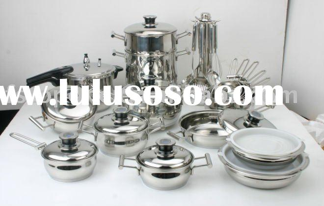 32pcs set stainless steel cookware set
