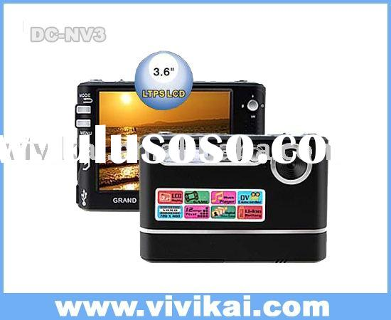"3.6"" TFT LCD still camera digital with 12.0Megapixel,MP3 player,games"
