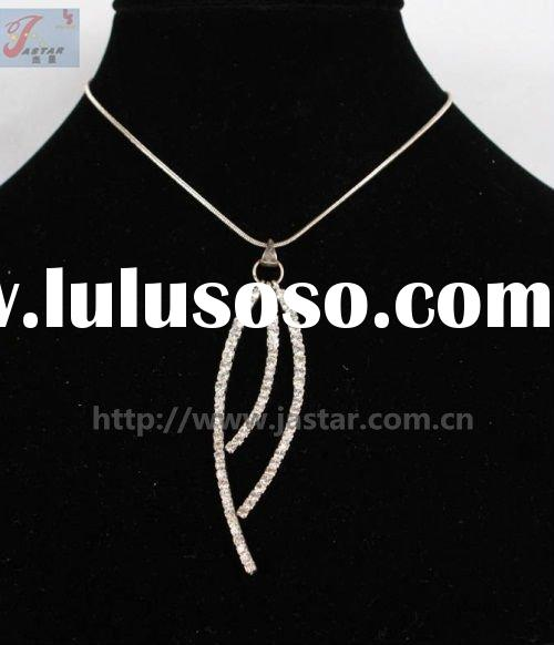3 Stick rhinestone necklace cheap fashion jewelry