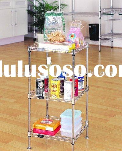 3layer chrome wire shelf , bathroom wire racking,wire shelving,antirust metal rack,bathroom corner s