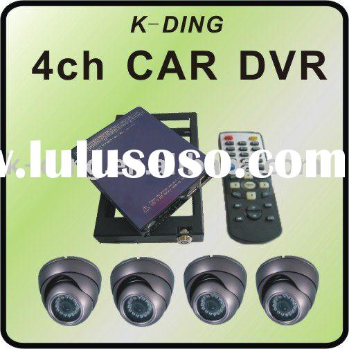 4CH SD BUS DVR with 4 sony camera security SYSTEM/TAXI DVR/CAR DVR/HDD CAR DVR/GPS