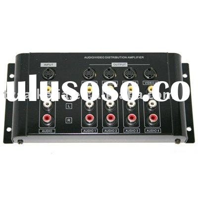 4 Way RCA AV Amplifier Splitter Audio Video