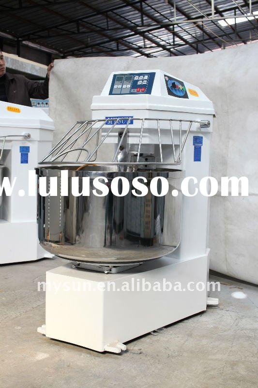 50kg/80kg/150kg two speed industrial stainless steel spiral (dough) mixer