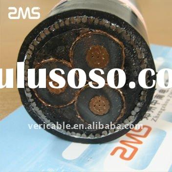 6.35/11kV XLPE insulated steel wire armored power cable