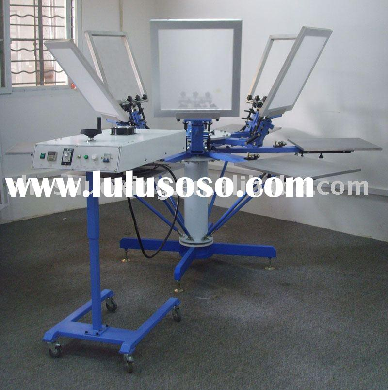 6 color silk screen printing press