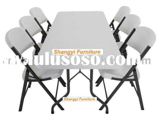 72''Rectangular folding event tables and chairs