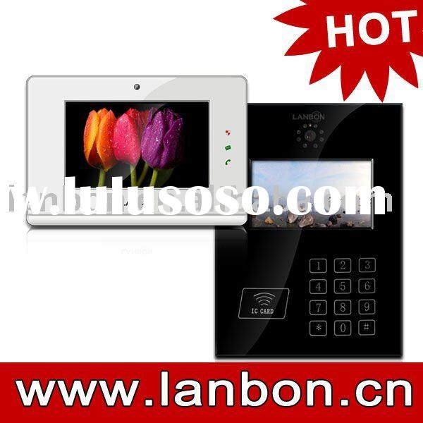 "7"" TFT IP Video door phone security system for home automation"