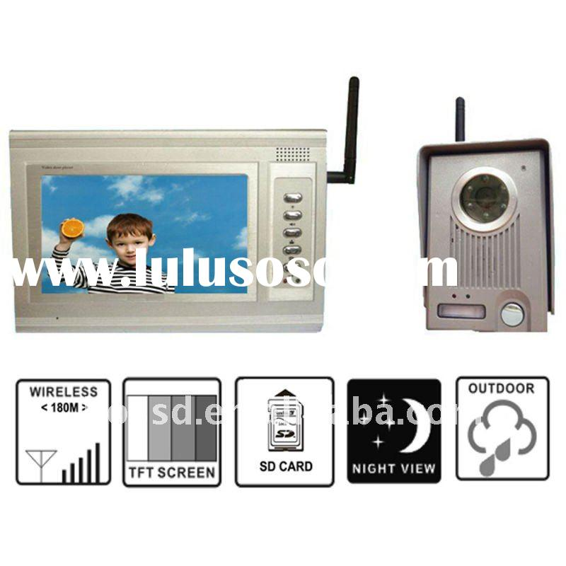 7'' color wireless video door phone-suppro