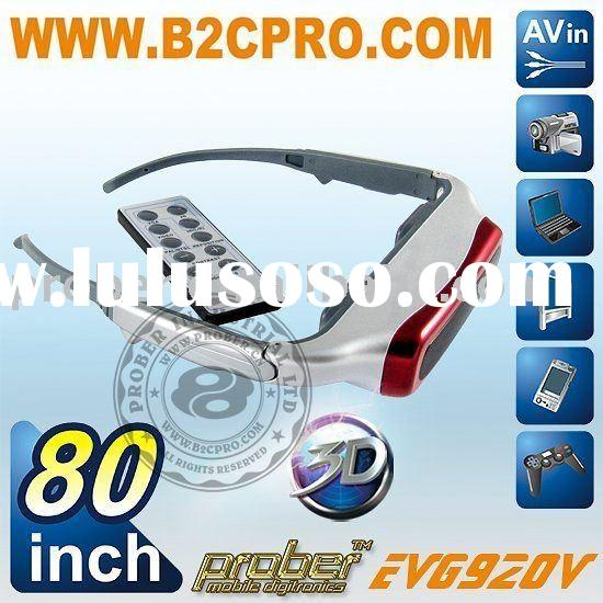 80' 3D Videoglasses for PS2&3, Nintendo WII, Xbox, Game pad