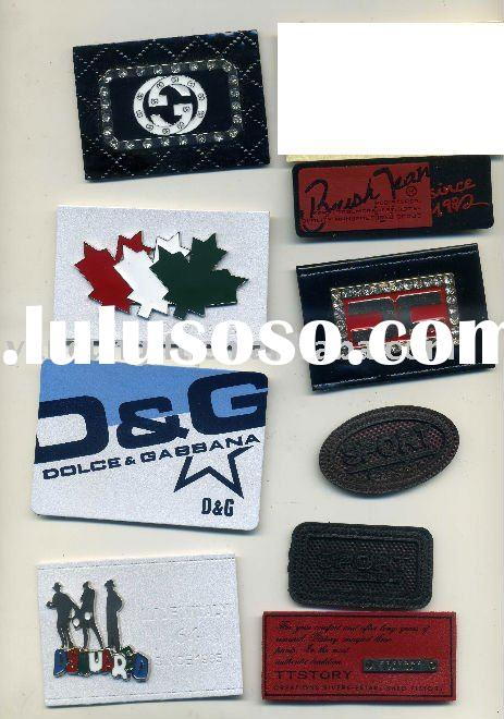 8 jeans leather label