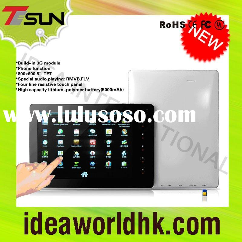 "8""newest tablet pc with phone &SIM card"