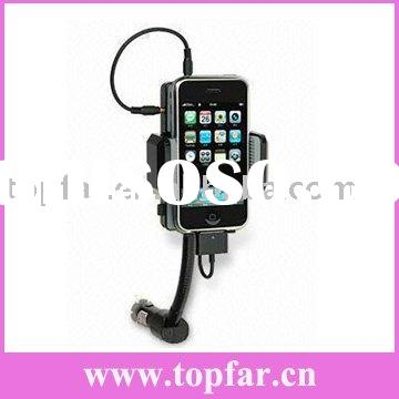 All car kit FM transmitter for iPhone 3G/3GS/iPhone/all ipod with USB Charger (Hot)