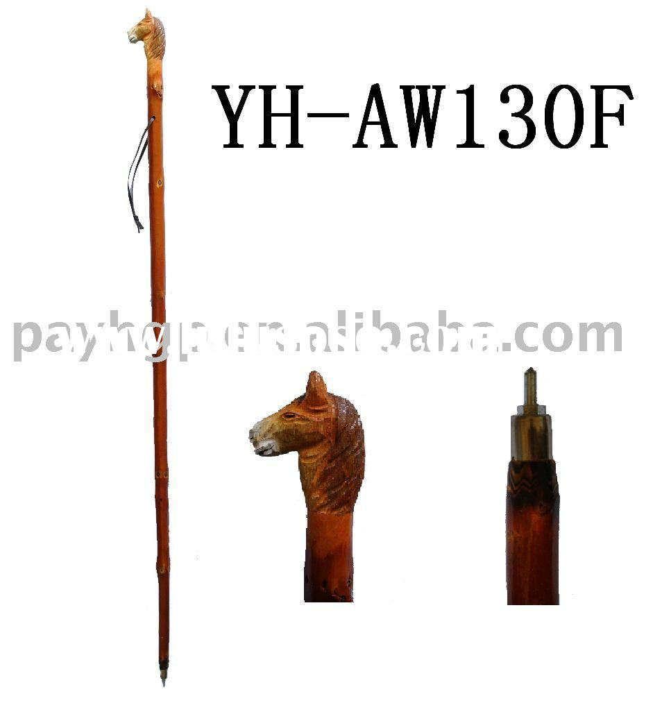 Animal head hiking sticks/carved walking canes/climbing products/travelling tool