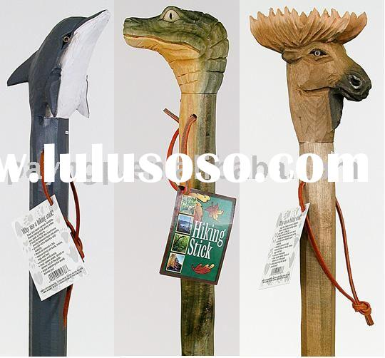 Animal head walking sticks/carved walking canes/Child stick/promotional items