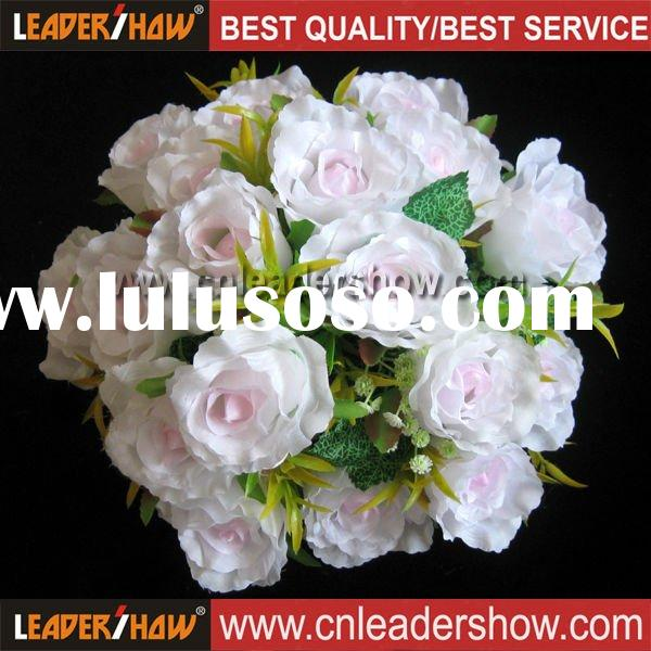 Artificial Bushes White Wedding Bouquet