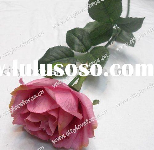 Artificial flower/artificial plant--Artificial single flower - rose