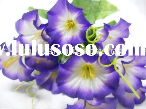 Artificial flower/artificial plant--Silk morning glory--blue