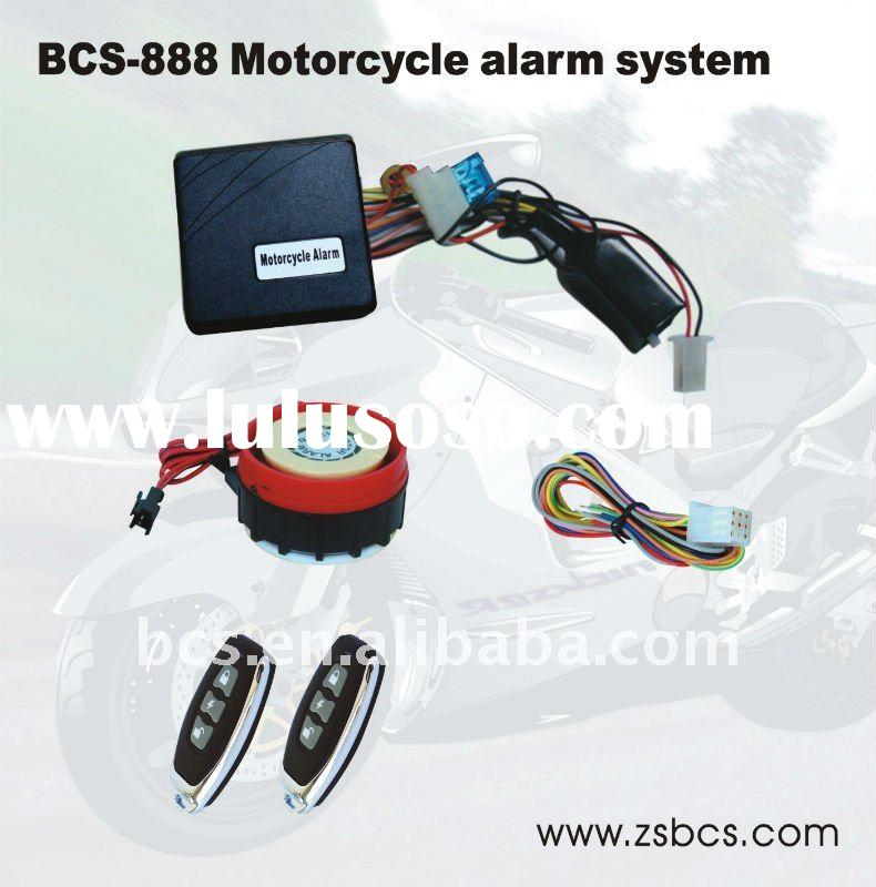 BCS-888 motorcycle alarm system with remote engine start