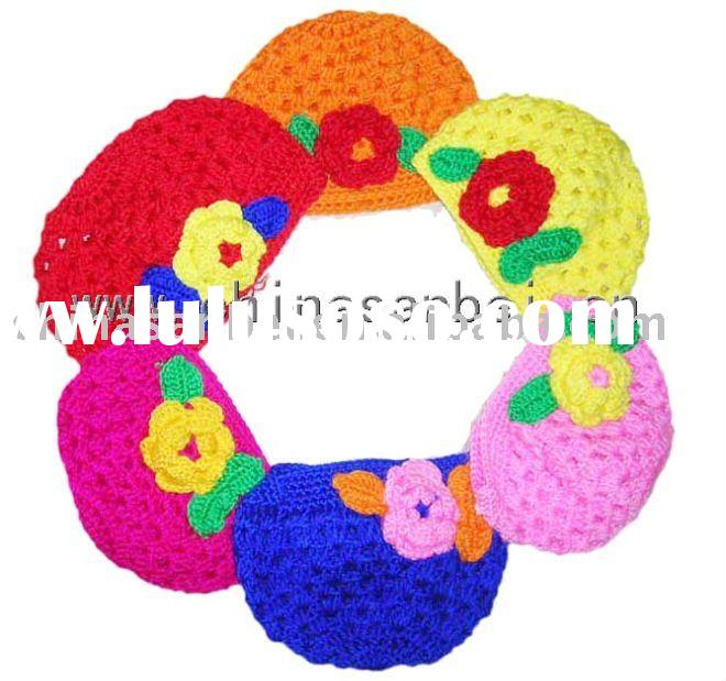 Baby Toddler Crochet Flower Beanie Hat Cap