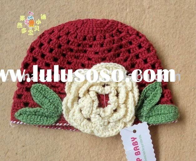 Baby Toddler Crochet Flower beanie handmade hat