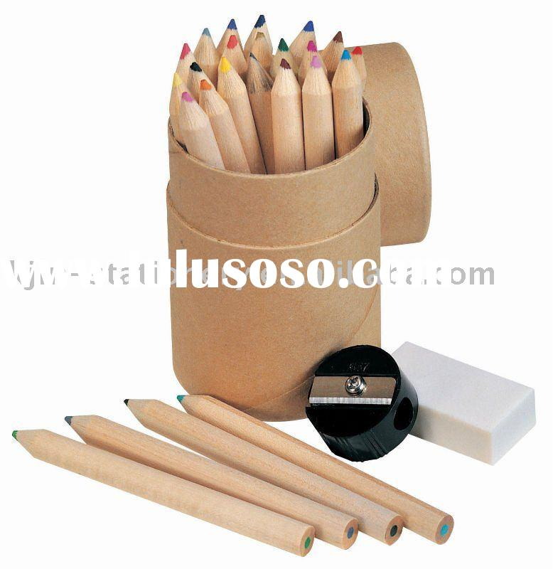 Back to school stationery set -color pencil set