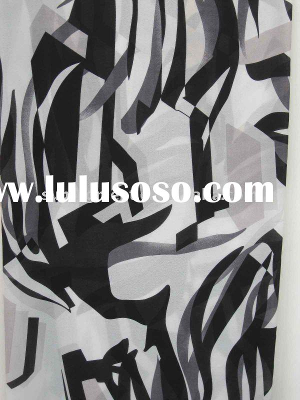 Black 100% polyester fabric/dobby georgette fabric