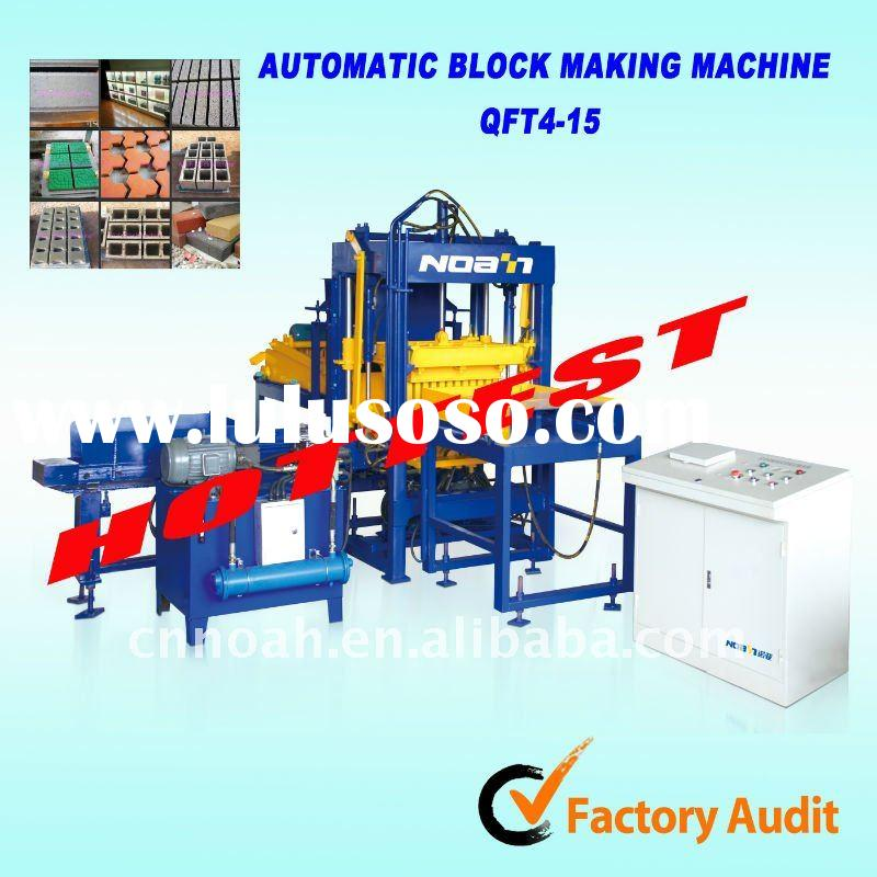 CHINA NOAH QFT4-15 automatic cement concrete block brick making machine HOTTEST PRICE
