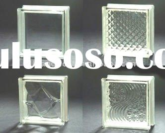 CLEAR GLASS BLOCK, WITH DIFFERENT TYPES OF PATTERNS, CE CERTIFICATE, FUMIGATION