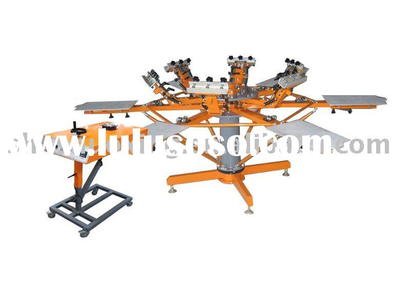 Carousel screen printing machine