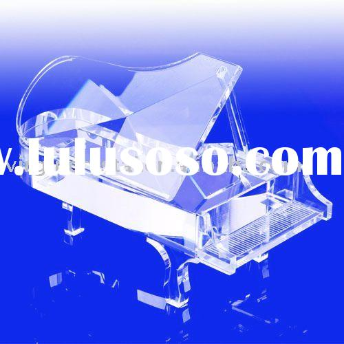 Clear Crystal Piano Wind Up Music Box Gifts