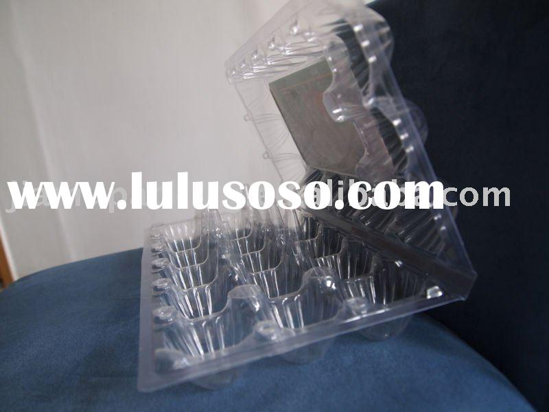 Clear plastic pvc egg tray packaging for 18