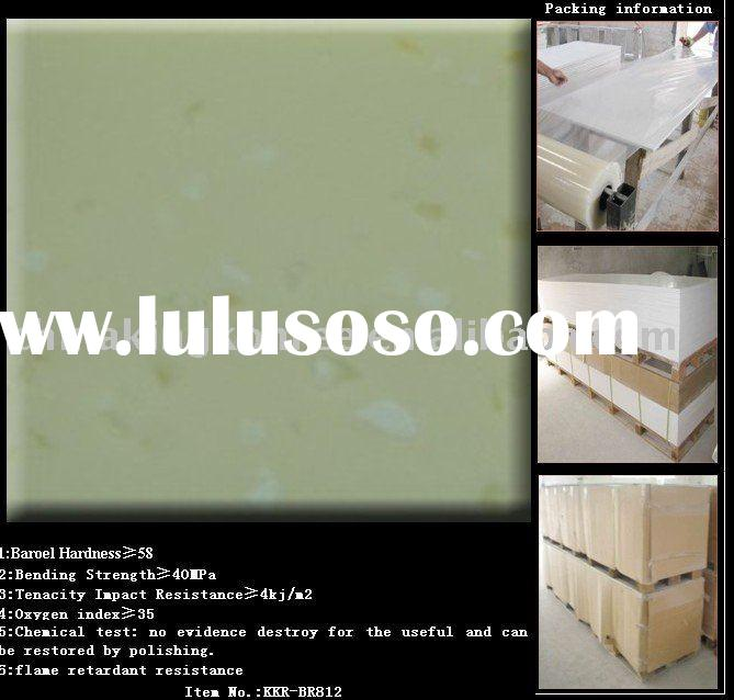 Composite acrylic solid surface material for bathroom wall panels, shower room wall panels