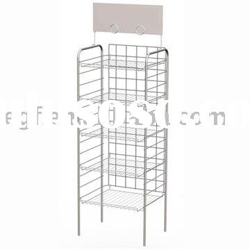 Consumer Goods Shelf Display Rack / Metal Display Stand