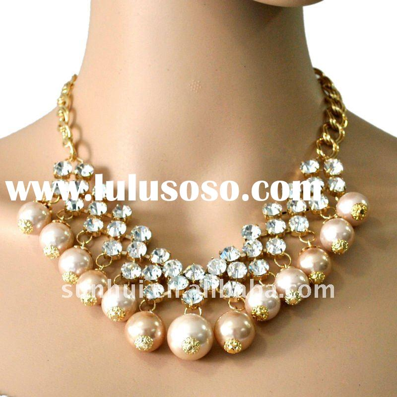 Costume Jewelry Handmade Pearl Necklace