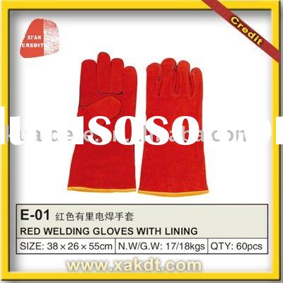Cow Split Leather Welding Working Glove With CE 420