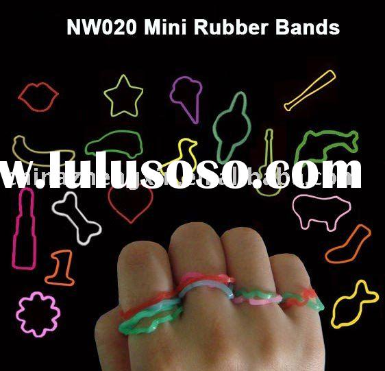 Cute silicone shaped rubber rings(silicone mini rubber bands)