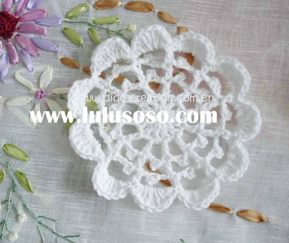DD03010A Handmade Crochet Table Cup Coaster Mat