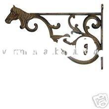 DECORATIVE METAL SHELF BRACKET