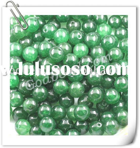 Dark Green Jade Gemstone Loose Beads