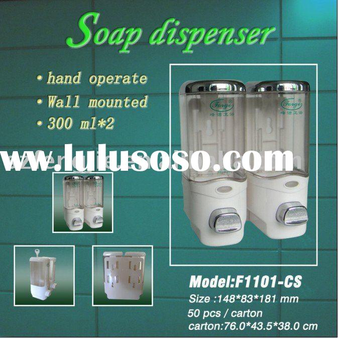 Double liquid soap dispenser & hand sanitizer dispenser