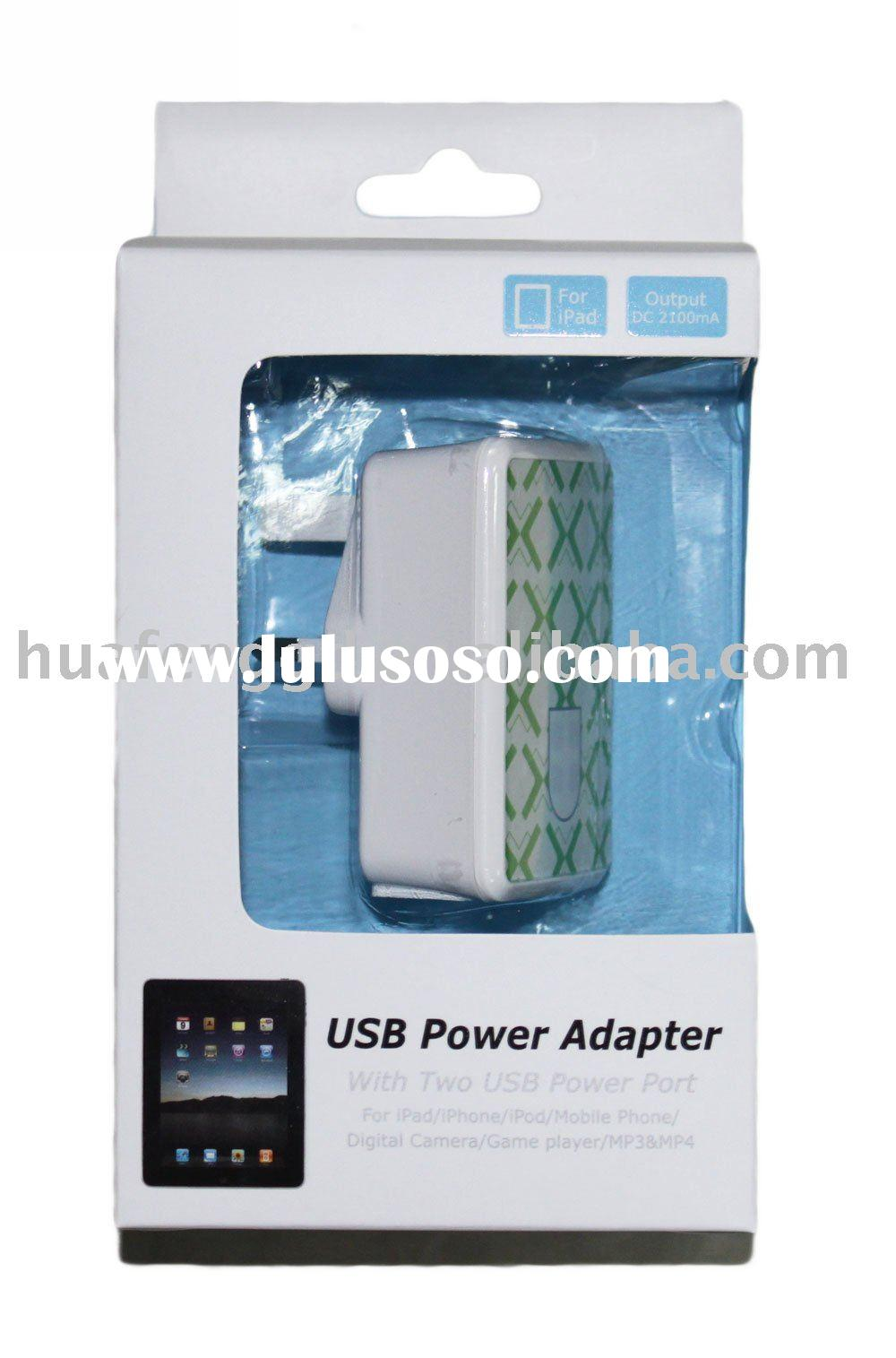 Dual USB Charger for iPad and iPhone and iPod