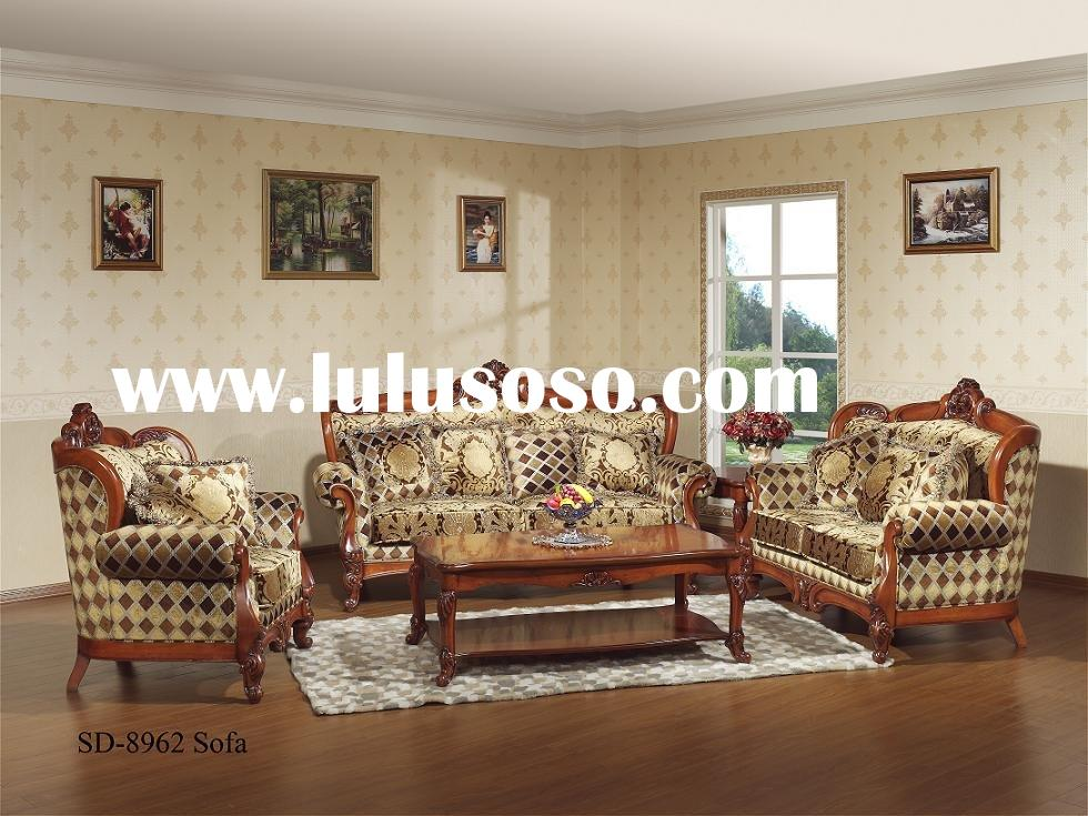 European style living room fabric sofa set SD-8962