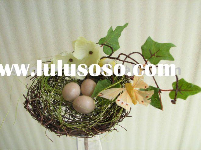 "Fake Flower, Cheap Artificial Flowers, 11"" Artificial Bird Nest"