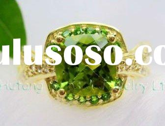 Fashion Gold Jewelry: 14KY Gold Ring Jewelry with Gemstone