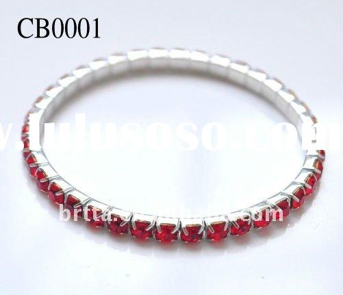 Fashion Red Rhinestone Crystal Bracelet