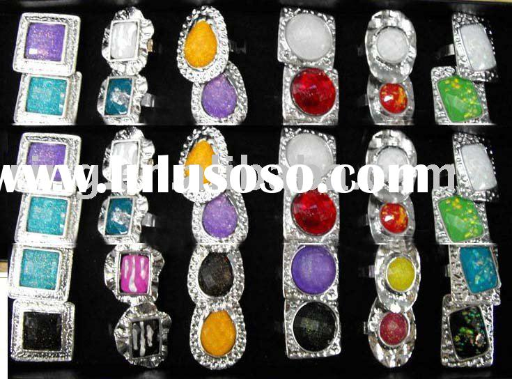 Fashion WHOLESALE Mixed Gemstone Rings fashion jewellery rings