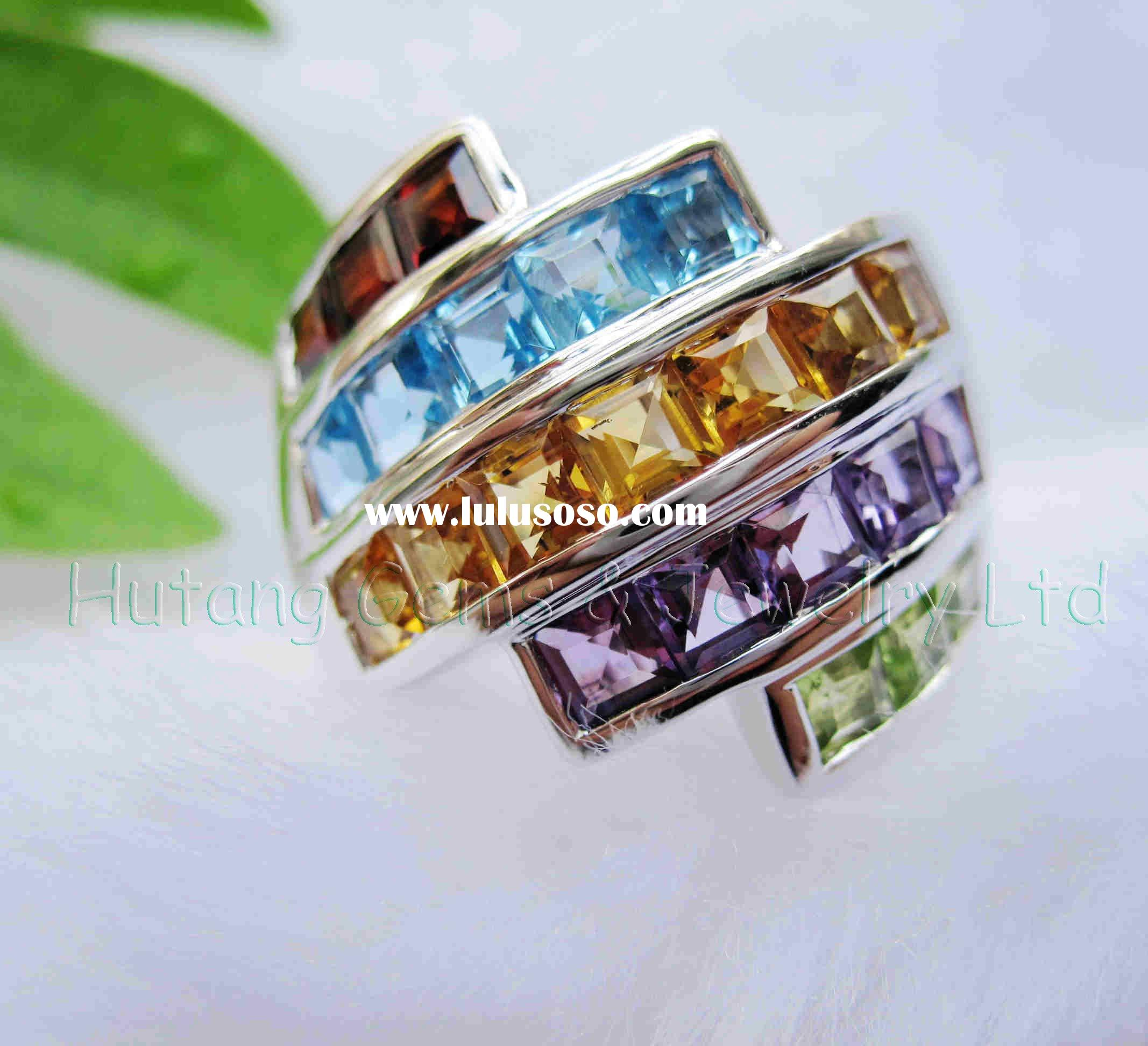 Fashion silver Jewelry: 925 sterling Silver Ring with Gemstone USR309